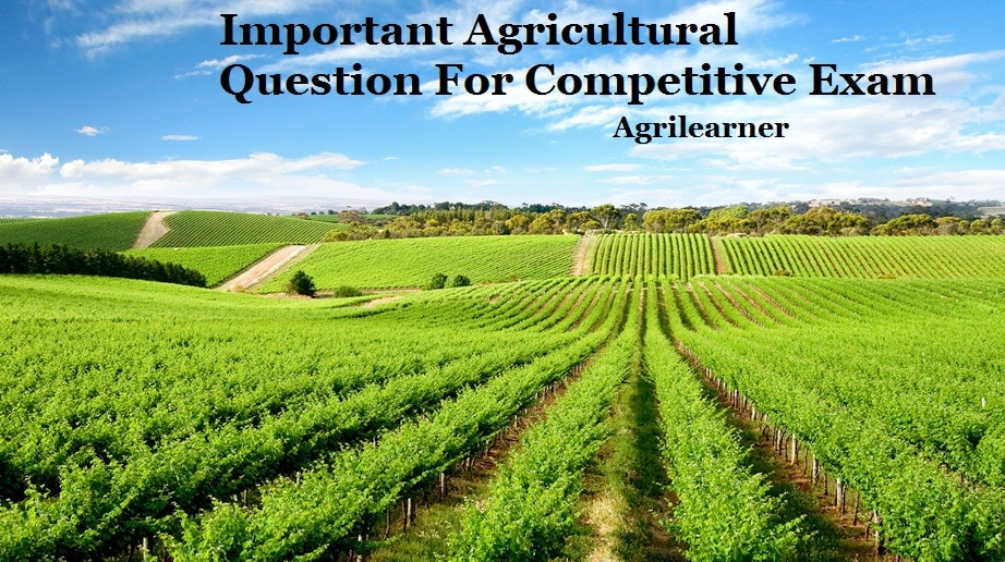 Important Agriculture Question
