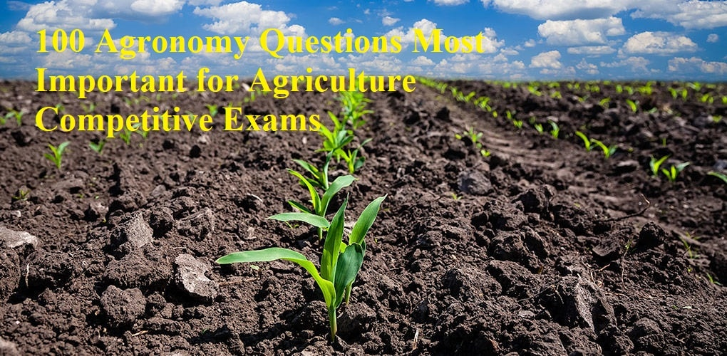 Agronomy Questions