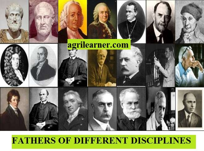 FATHERS OF DIFFERENT DISCIPLINES