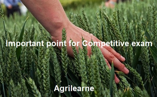 Important point of Agriculture
