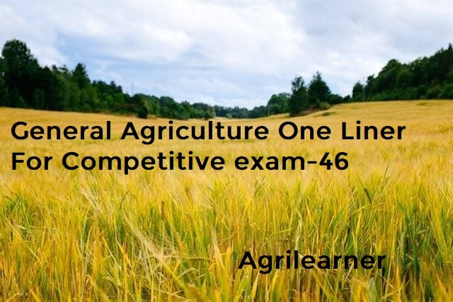 Agriculture One Liner