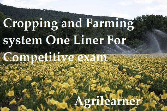 Farming system One Liner