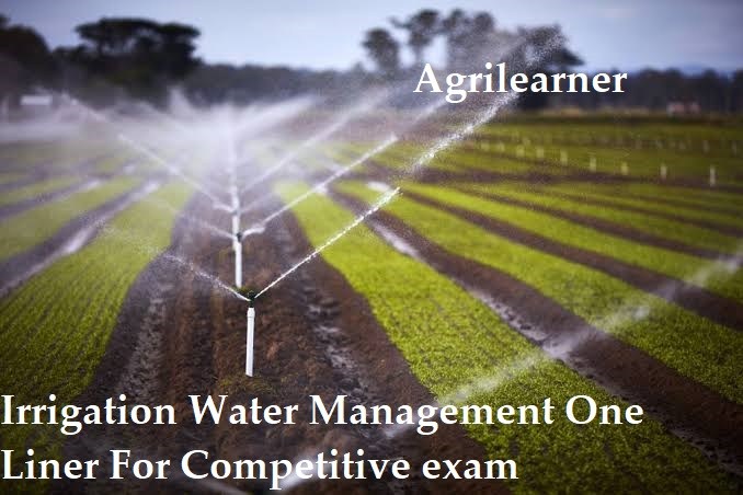Water Management One Liner