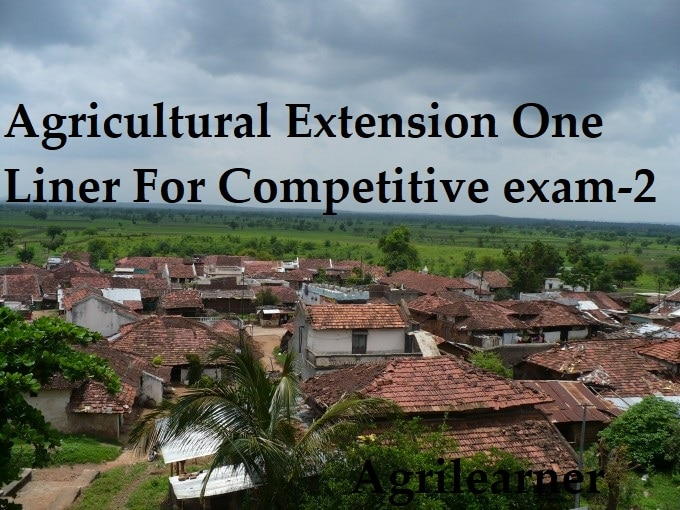 Agricultural Extension One Liner