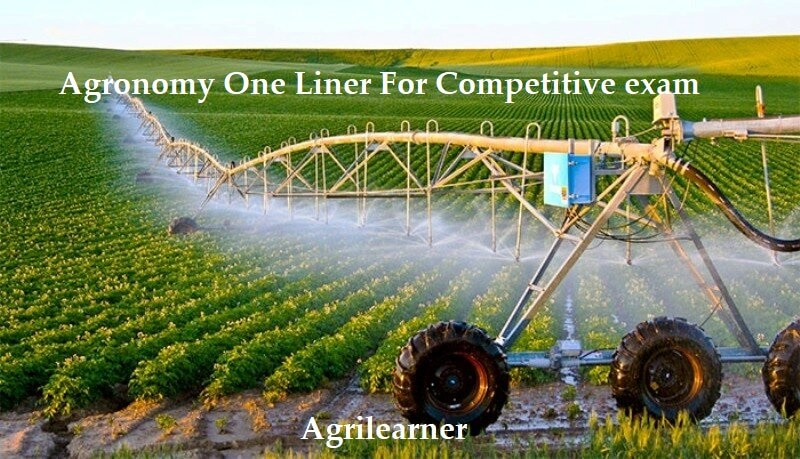 Agronomy One Liner
