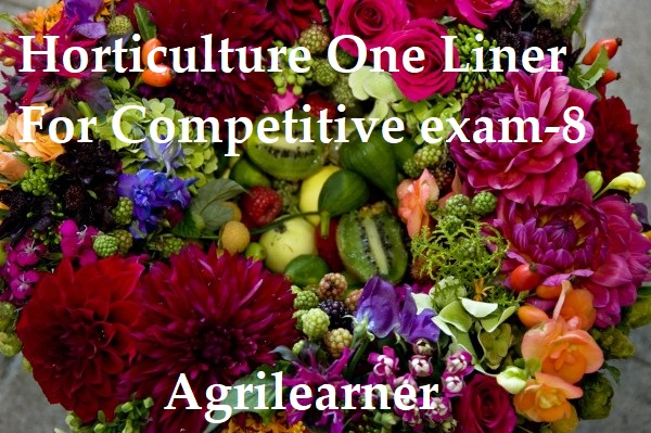 Horticulture One Liner