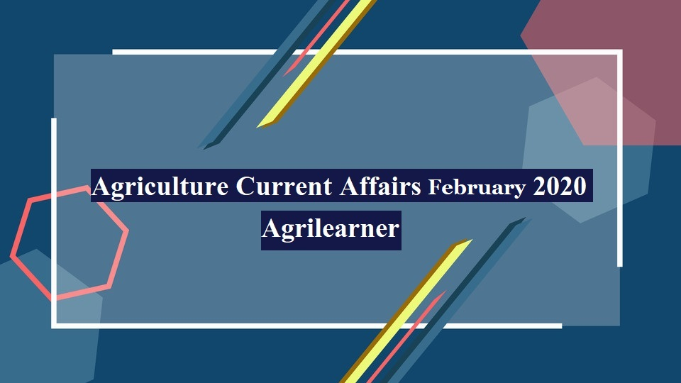 Agriculture Current Affairs pdf