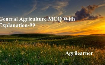 Agriculture MCQ