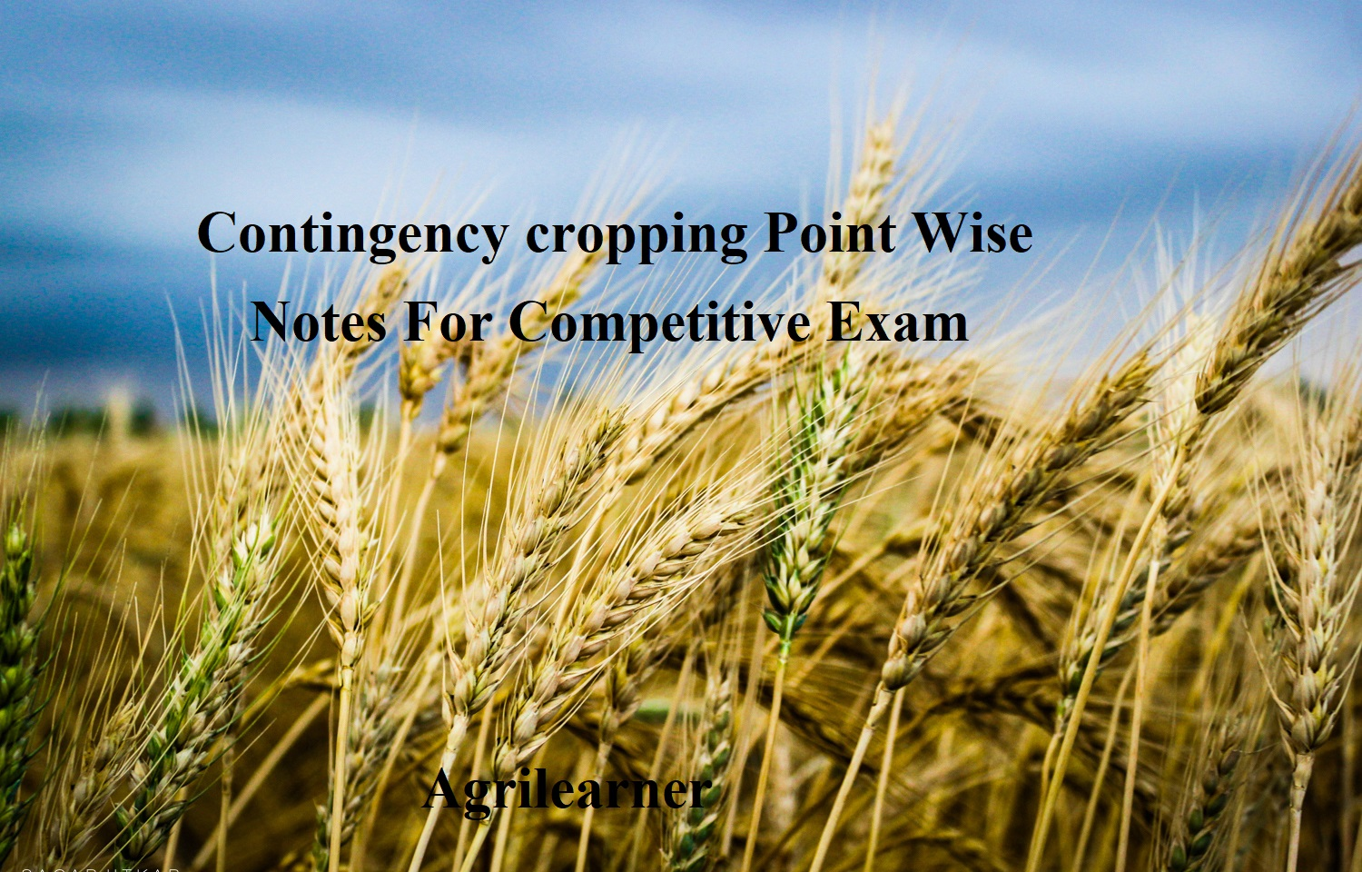 Contingency cropping