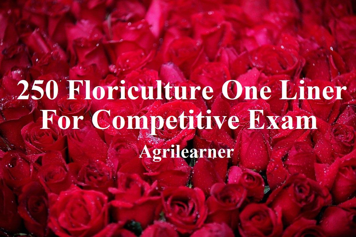 Floriculture One Liner