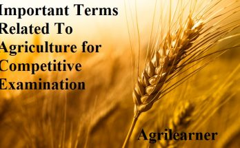 Important Terms Related To Agriculture for Competitive Examination